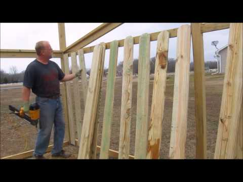 Good Neighbor Fence:  Part 3 - Boarding it Up
