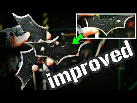 How to make flip-open BATARANG Shurikens out of a Sawblade