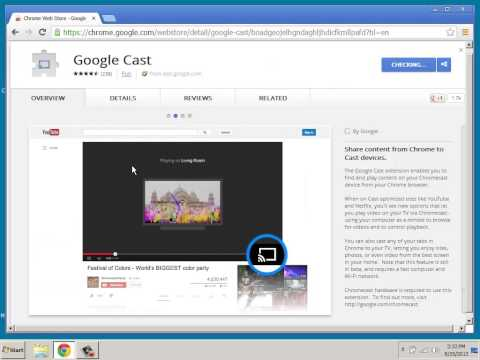 How to Stream Video on Your TV From a Laptop Computer Using Google Chromecast HDMI Device