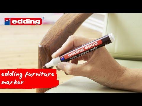 Furniture repair made easy -- edding furniture marker