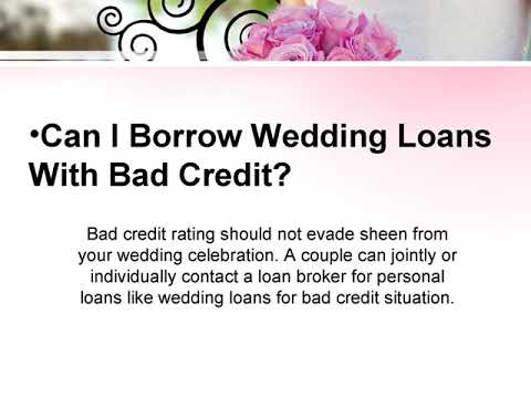 Wedding Loans for Couples with Bad Credit History in UK
