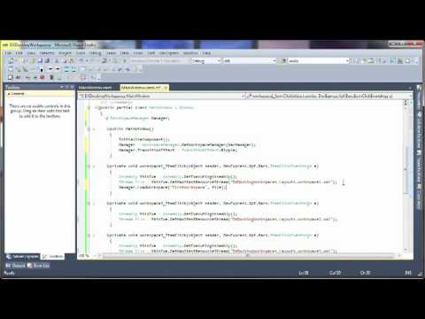 WPF Workspace Manager -- Getting Started