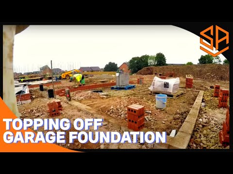 Bricklaying with Steve and Alex DOUBLE GARAGE PART 2 ENGINEERING BRICKS