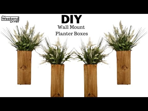 Easy DIY Wall Mount Planter! Great for beginners!!!