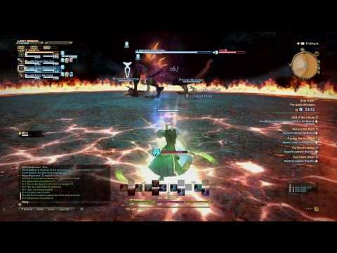 My first fight with Ifrit (FF14 PS4 Beta)