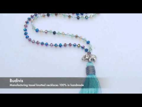 Long Knotted tassel Necklaces Manufacturing