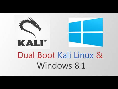 Kali Linux Tutorial # 3 - Dual Boot Kali Linux and Windows 8.1 2015