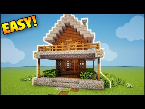 Minecraft: Super Simple Starter House Tutorial - How to Build a Survival House in Minecraft (Easy)