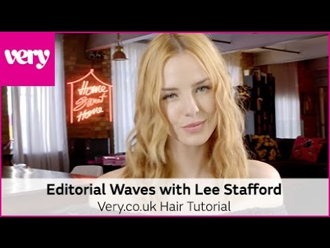 How to Create Editorial Waves with Lee Stafford Academy Straighteners   Very Beauty