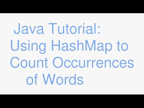 Java Maps Part 3: use HashMap to find number of word occurrences in a file