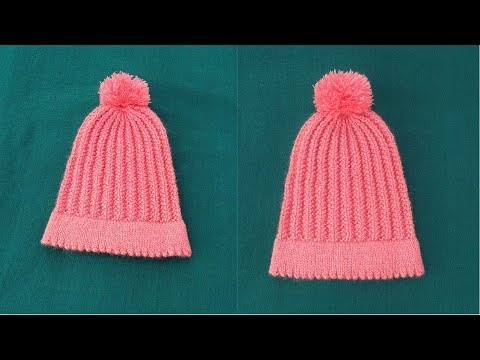 Double Sided Cap (knitting) || in hindi
