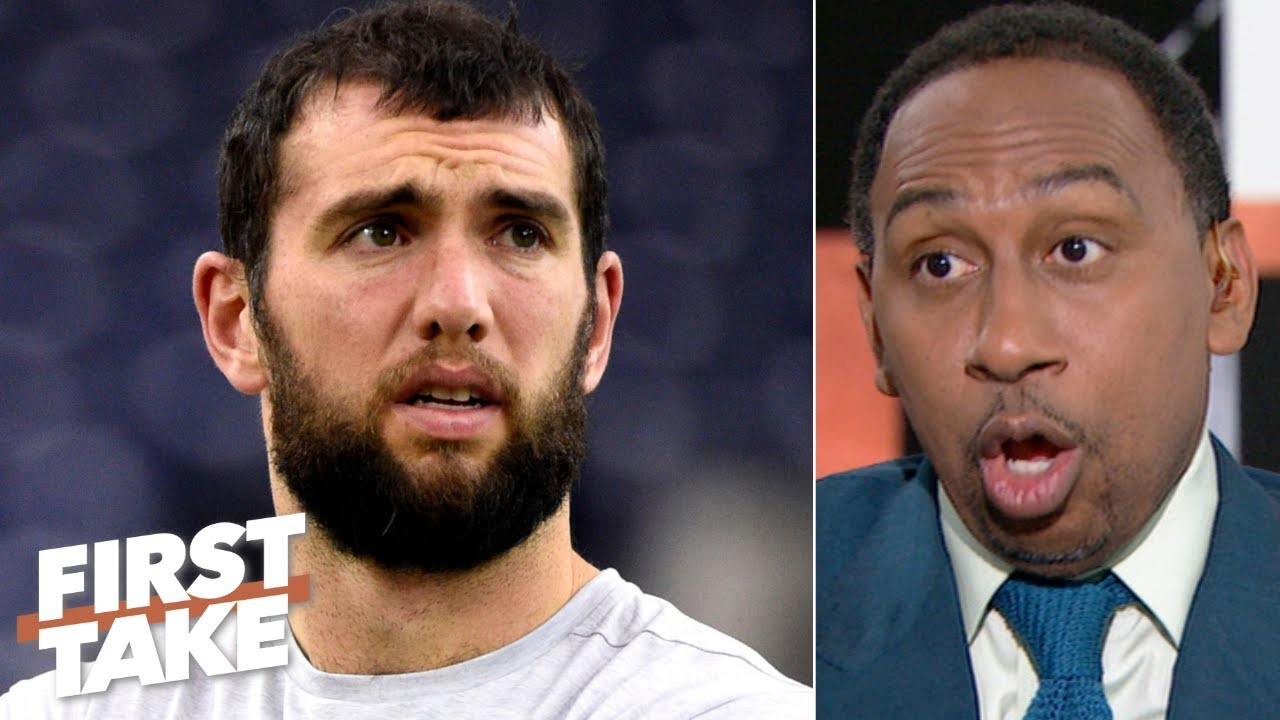 Stephen A. reacts to Andrew Luck's sudden retirement from the NFL | First Take