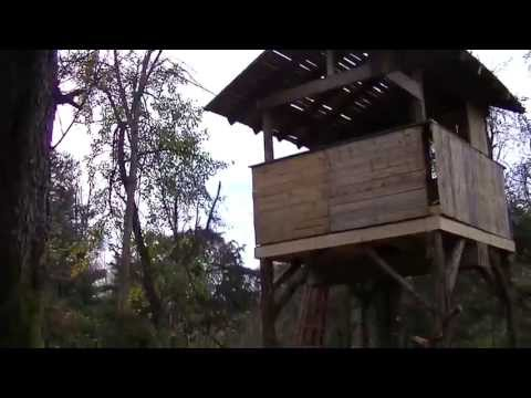 PALLET TREE HOUSE Made from FREE PALLETS