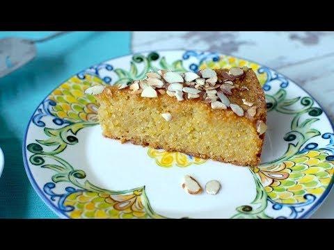 Polenta lemon drizzle cake