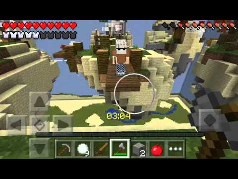 -Minecraft PE-Sky Wars-He was glitched!?!?