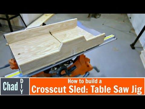 Build a Super Simple Crosscut Sled: Table Saw Jig