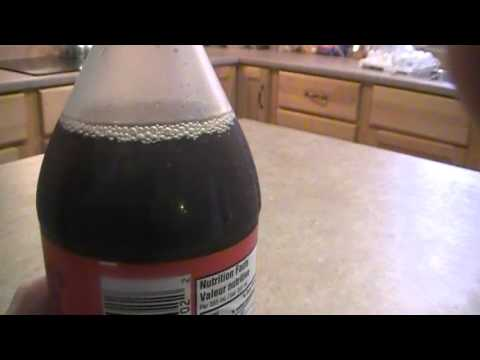 How to Freeze a Coke in 2 seconds !! First try
