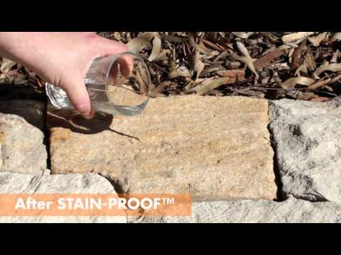 Water-repelling sandstone treated by Dry-Treat's permanent sealer