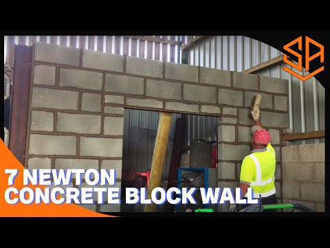 Bricklaying with Steve and Alex BLOCK WALL INSIDE A BARN