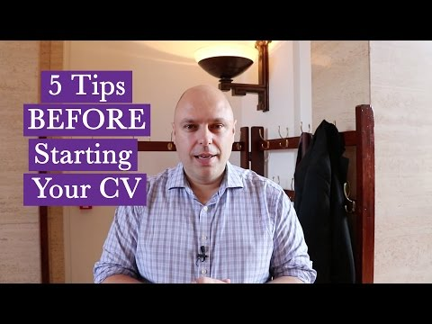 5 Essential Tips BEFORE Starting Your CV | The Great Grad Job Hunt
