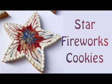 Star Fireworks Cookies