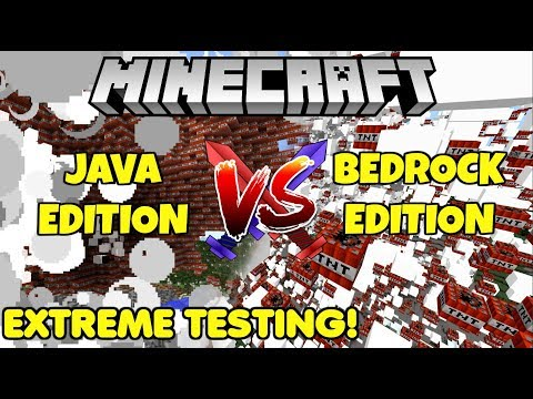 Minecraft Java VS Minecraft Bedrock! What Version Is The Best? EXTREME Lag Tests!