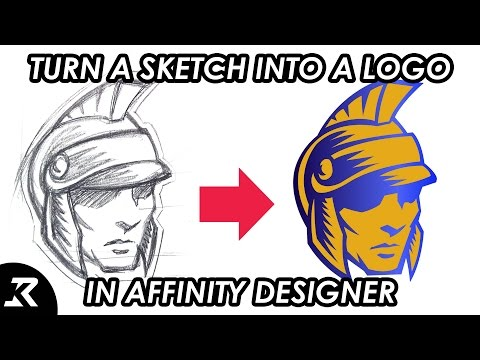 How to turn a sketch into a logo using Affinity Designer
