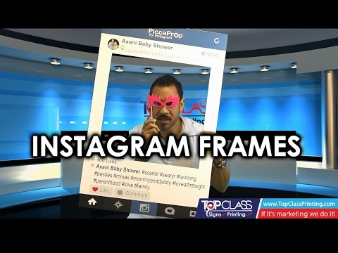 Instagram Photo Prop Review - Social Media Props -Top Class Signs and Printing