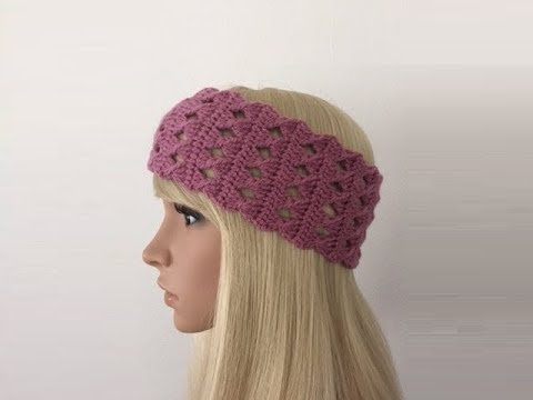 How to Crochet Earwarmers / Headband Pattern #281│by ThePatternFamily