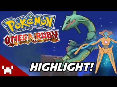 RAYQUAZA WITH ONE POKEBALL + DEOXYS (Pokemon Omega Ruby Stream Highlight)