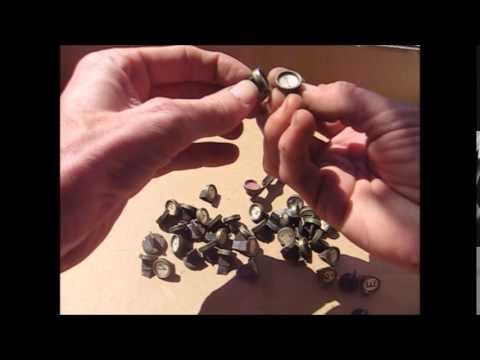 49 old glass top typewriter keys
