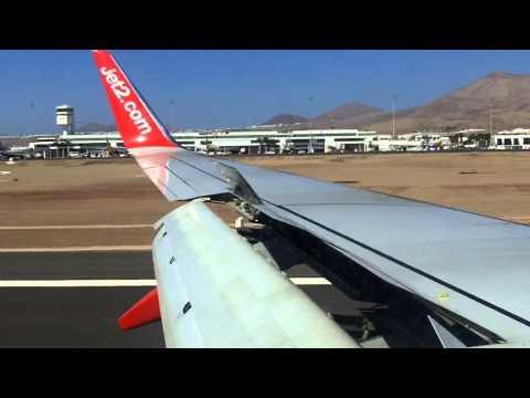 Lanzarote Airport - landing onboard