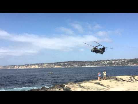 La Jolla Military Helicopter Fly-By