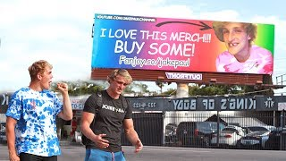 EMBARRASSING BILLBOARD PRANK ON MY BROTHER (HE FREAKED)