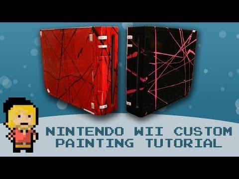 [TUTORIAL] DIY Nintendo Wii Custom Case Painting!