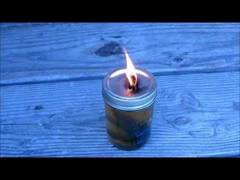 Make a lamp from old cooking oil and used jeans, GREAT way to recycle