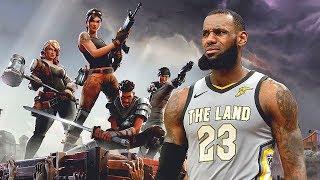 If LeBron James Played Fortnite Battle Royale!