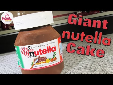 Giant NUTELLA Cake | How to Make an INSANE Chocolate Nutella Jar Cake