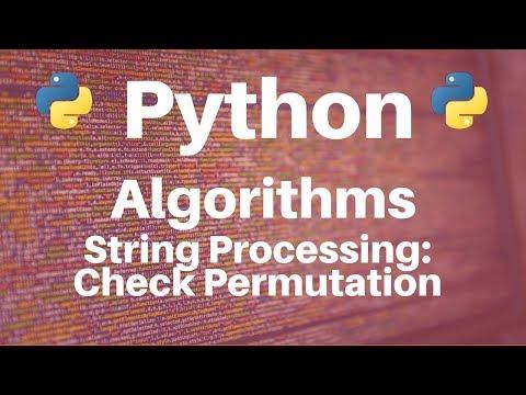 String Processing in Python: Check Permutation