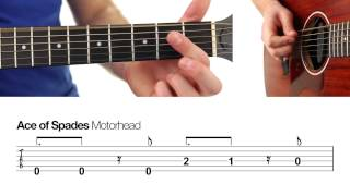 ► Ace Of Spades - Motorhead ★ (beginners) Guitar Lesson ★