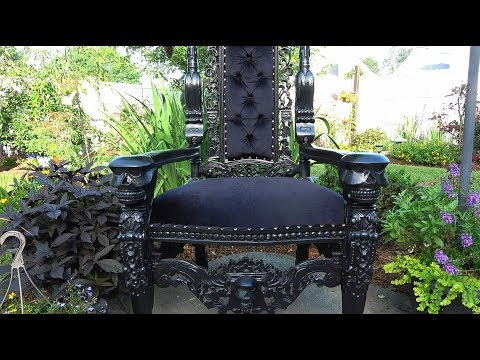 Skull Throne Chair for Halloween
