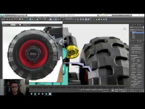 Lego Batman 2017 - Batmobile Modeling Tutorial - Part 12