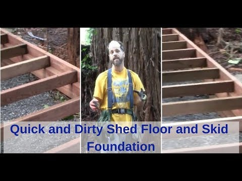 Quick and Dirty Shed Floor and Skid Foundation. Shed Assembly Part 1 best barn denver model