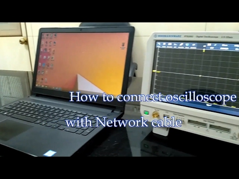 How connect oscilloscope with Network cable