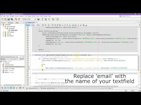 Verify and validate email in Java Netbeans IDE