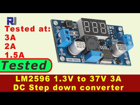 LM2596 DC to DC 3A Buck Converter with LED display tested
