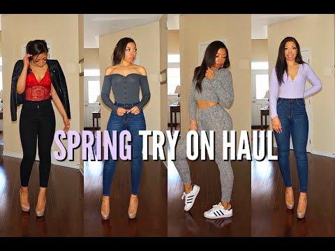 Huge SPRING FASHION HAUL & TRY ON | BASICS CLOTHING ft Fashion Nova