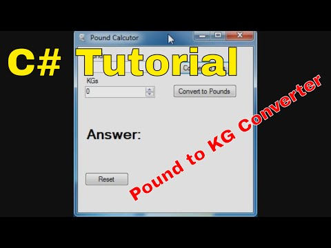How to convert pounds to kilograms in C#