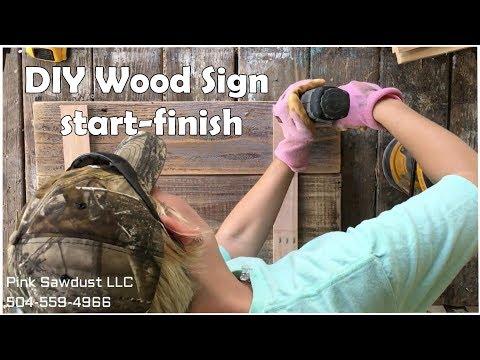 DIY Wood Sign Start to Finish