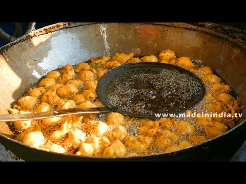 Roadside Gram Flour Fritters Making | BESAN BAJJI MAKING street food